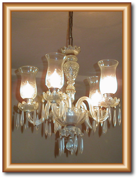 5 Light Antique Icicle Drops Crystal Chandelier (Restoration) This antique  crystal chandelier was from the early 1900's. I replaced the hurricane  glass ... - Crystal Chandelier Restoration 5 Light Antique Icicle Drops