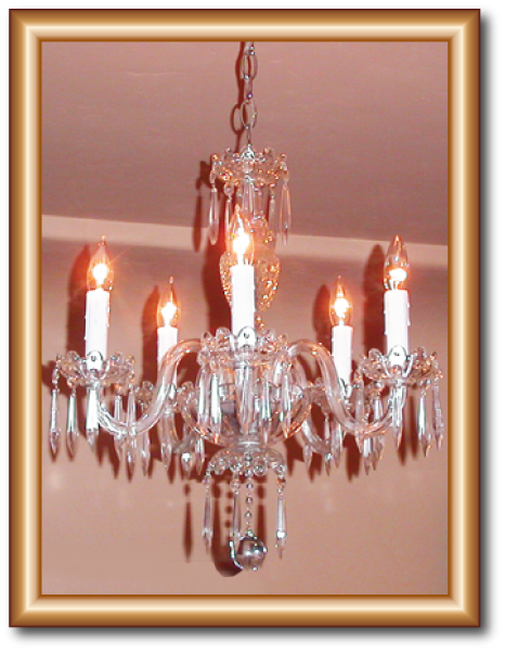 Crystal chandelier restoration 5 light antique icicle drops 5 light antique icicle drops crystal chandelier restoration this antique crystal chandelier was from the early 1900s i replaced the hurricane glass aloadofball Images